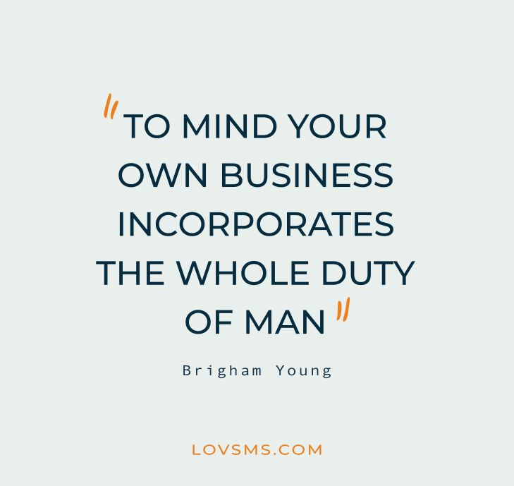 Mind Your Business Quotes