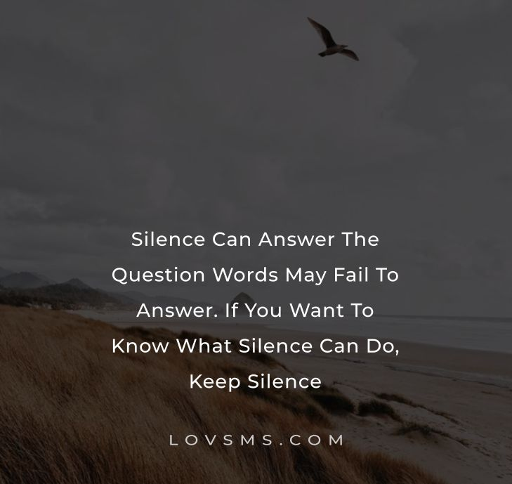 Power Of Silence Quotes