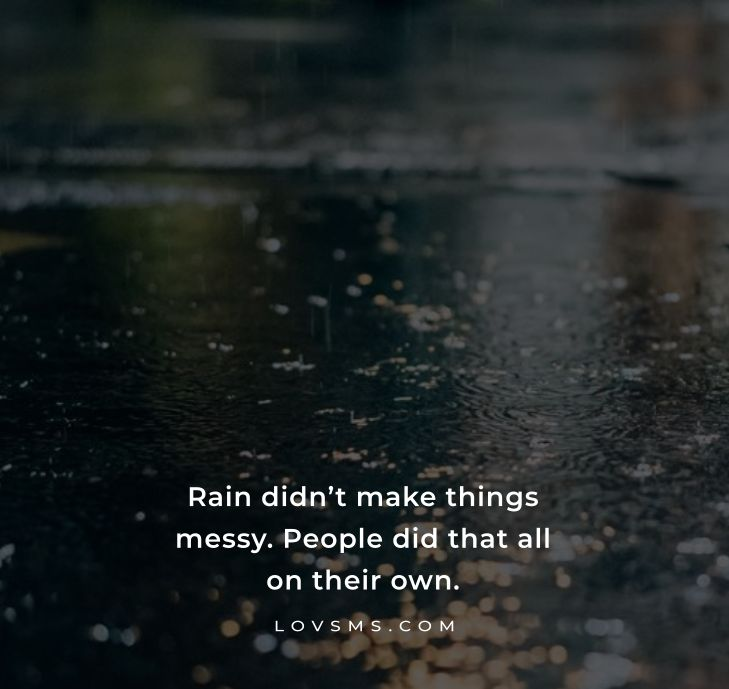 Rainy Day Quotes To Make You Strong