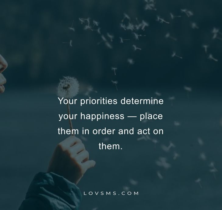 Inspirational Priority Quotes