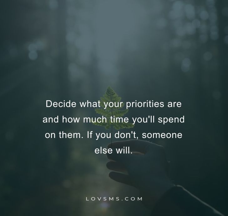 Priority Quotes About Time